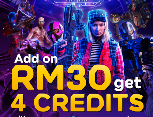 ADD ON 4 CREDITS EXIT REALITY AT ONLY RM30 FOR ANY ZERO LATENCY GAMES PURCHASED